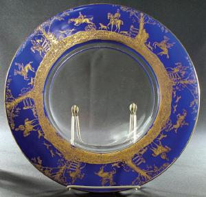 royal blue and Carmen either plain or etched. & Crystal Ball Article - Etching No. 718
